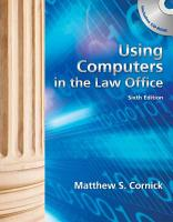Using Computers in the Law Office PDF