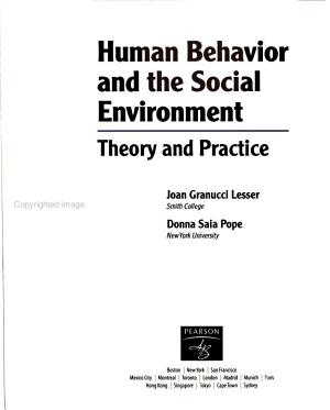 Human Behavior and the Social Environment PDF