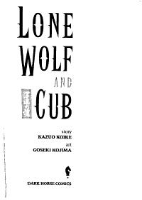 Lone Wolf and Cub  Perhaps in death PDF