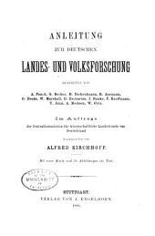 Anleitung zur deutschen landes- und volksforschung