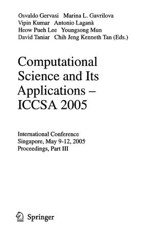 Computational Science and Its Applications PDF