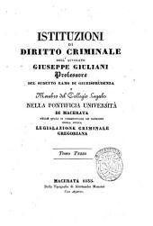 Istituzioni di diritto criminale: Volume 3