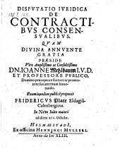 De contractibus consensualibus defendente Friderico Plate