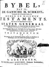 Bybel, dat is, De gansche H. Schrift