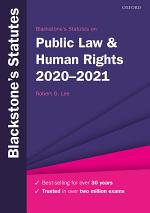 Blackstone's Statutes on Public Law and Human Rights 2020-2021