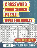 Crossword Word Search Puzzle Books for Adults PDF