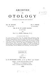 Archives of Otology: Volume 15