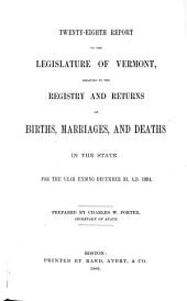 Report ... Relating to the Registry and Returns of Births, Marriages, Deaths, and Divorces in the State ...