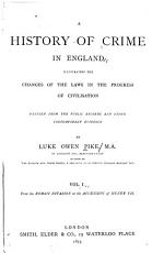 A History of Crime in England  From the Roman invasion to the accession of Henry VII PDF