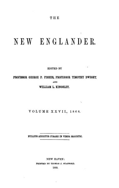 Download The New Englander Book