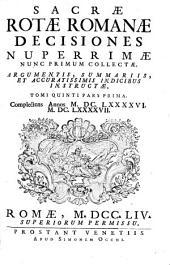 Complectens Annos M. DC. LXXXXVI. M. DC. LXXXXVII. [1696. 1697]: Volume 1; Volume 5
