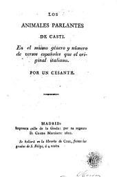 Los Animales parlantes de Casti: en el mismo género y número de versos españoles que el original italiano