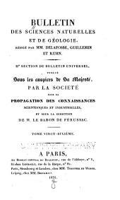 Bulletin des sciences naturelles et de géologie: Volume26