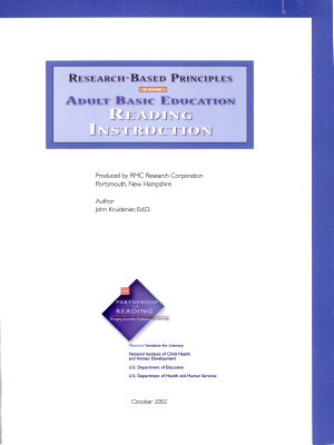 Research based Principles for Adult Basic Education Reading Instruction