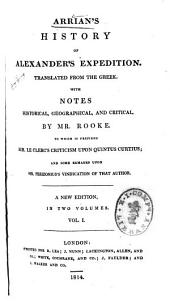 Arrian's History of Alexander's Expedition