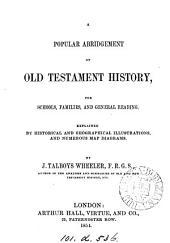 A popular abridgement of Old Testament history