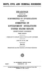 Hearings, Reports and Prints of the Senate Committee on Government Operations