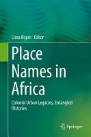 Place Names in Africa PDF