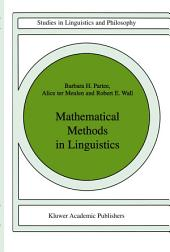 Mathematical Methods in Linguistics