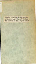 Amended City Charter and Revised Ordinances   Rules of the Common Council of the City of Beloit PDF