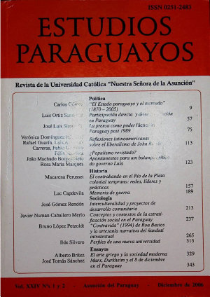 Revista Estudios Paraguayos 2006   N  1 y 2   Vol  XXIV PDF