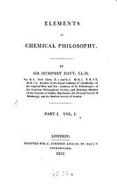 Elements of Chemical Philosophy: Part 1, Volume 1