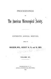 Transactions of the American Microscopical Society: Volume 15