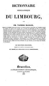 Dictionnaire géographique du Limbourg