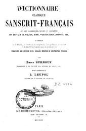 Dictionnaire classique sanscrit-français: où sont coordonnés, revisés et complétés les travaux de Wilson, Bopp, Westergard, Johnson, etc. et contenant Le dêvanâgari ...