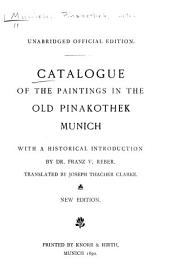 Catalogue of the Paintings in the Old Pinakothek, Munich