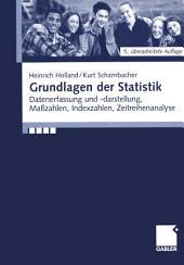 Grundlagen der Statistik: Datenerfassung und -darstellung, Maßzahlen, Indexzahlen, Zeitreihenanalyse, Ausgabe 5
