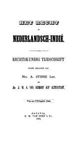 Indisch tijdschrift van het recht: orgaan der Nederlandsch-Indische juristen-vereeniging, Volume 54