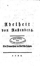 Adelheid von Rastenberg  Trauerspiel in 5 Aufz PDF