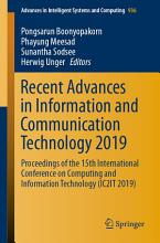Recent Advances in Information and Communication Technology 2019 PDF