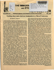 The Immigration and Ethnic History Newsletter PDF