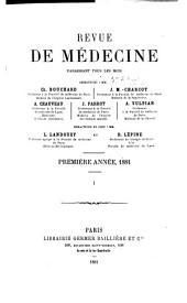 Revue de médecine: Volume1