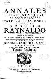 Annales ecclesiastici ab anno MCXCVIII ubi desinit Cardinalis Baronius: Volume 10