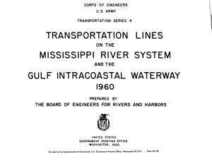 Transportation Lines on the Mississippi River System and the Gulf Intercoastal Waterway