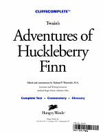 CliffsComplete The Adventures of Huckleberry Finn PDF