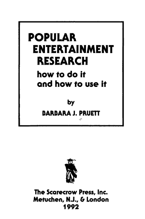Popular Entertainment Research PDF