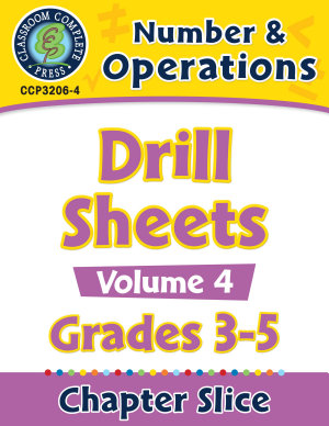 Number   Operations  Drill Sheets Vol  4 Gr  3 5