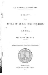 Report of the Office of Public Road Inquiries