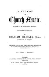 A sermon [on Psal. lxvi. 8] on Church Music