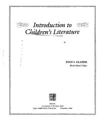 Introduction To Children S Literature Book PDF
