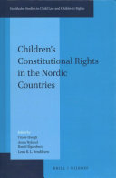 Children s Constitutional Rights in the Nordic Countries