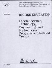 Higher Education: Federal Science, Technology, Engineering, and Mathematics Programs and Related Trends