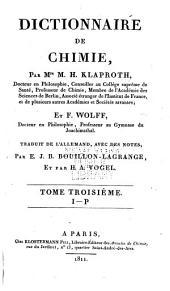 Dictionnaire de chimie: Volume3