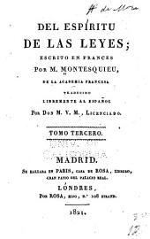 Del espíritu de las leyes: Volumen 3