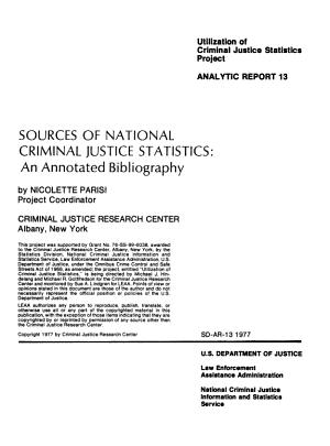 Sources of National Criminal Justice Statistics PDF