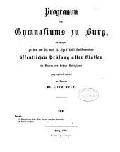 Programm des Gymnasiums zu Burg: 1866/67 (1867)